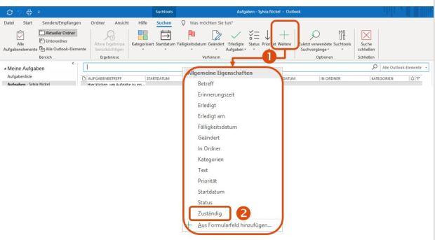 Outlook Aufgaben Zuständig