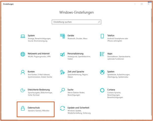 Windows Datenschutz