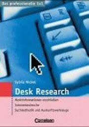 Desk Research © Sylvia NiCKEL