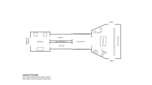 Rough Layout of the Exhibit.
