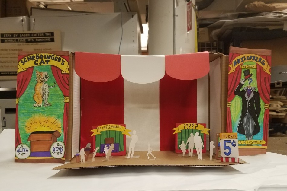 Diorama showing a physical concept of the exhibit.