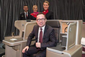 Alan Joyce on Qantas A330 business seat
