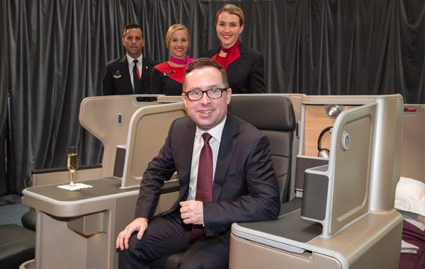 Alan Joyce on Qantas A330 business seat
