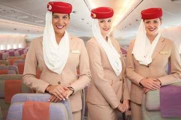 Emirates A380 staff