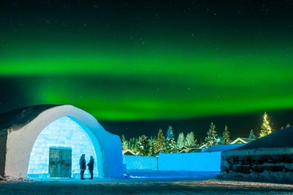 The Icehotel - Aurora Borealis