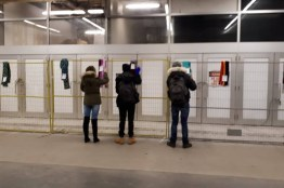 Scarves in Toronto Subway Station