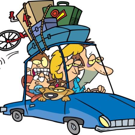 Animation of family roadtrip