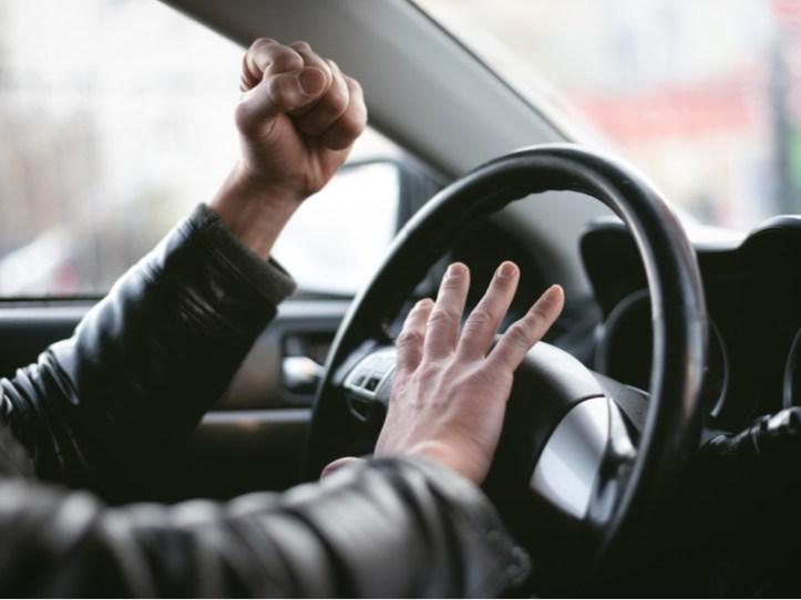 honking horn male driver