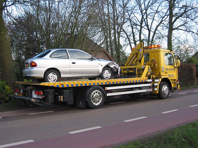 towing a car