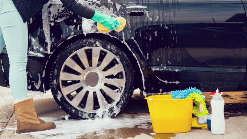 Car-cleaning and washing