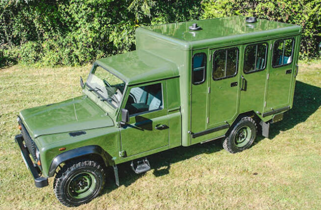 "Prince Philip's Land Rover Defender 130 ""gun bus"""