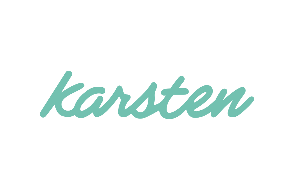 Karsten Rowe wordmark design.