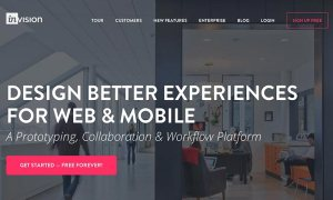 Screenshot of the Invision App website.