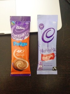 Photo of Cadbury Highlights package design.