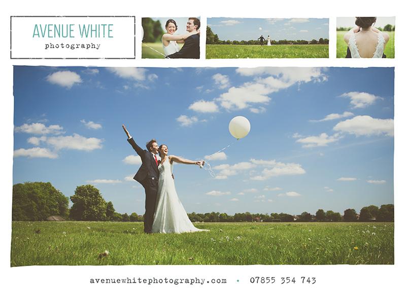 Screenshot of Avenue White Photography magazine advert design.