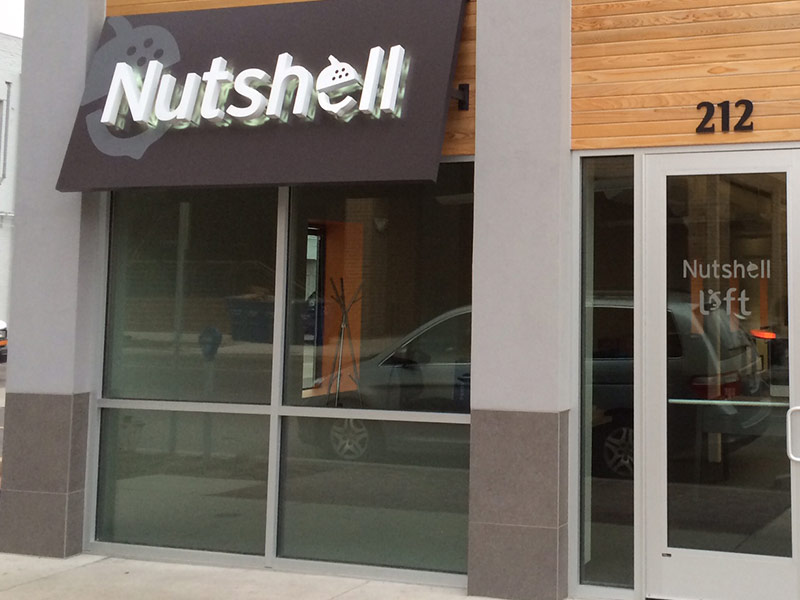 Photo of Nutshell office signage in Ann Arbor.