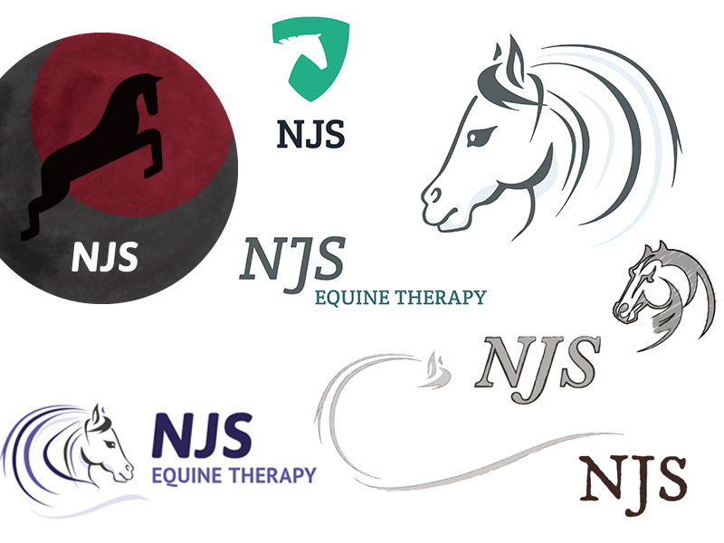 Logo Design Harrogate, NJS Equine Therapy branding project.
