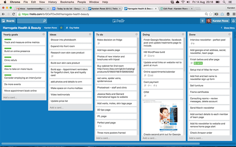 Design project management tips – use Trello to organise and collaborate.