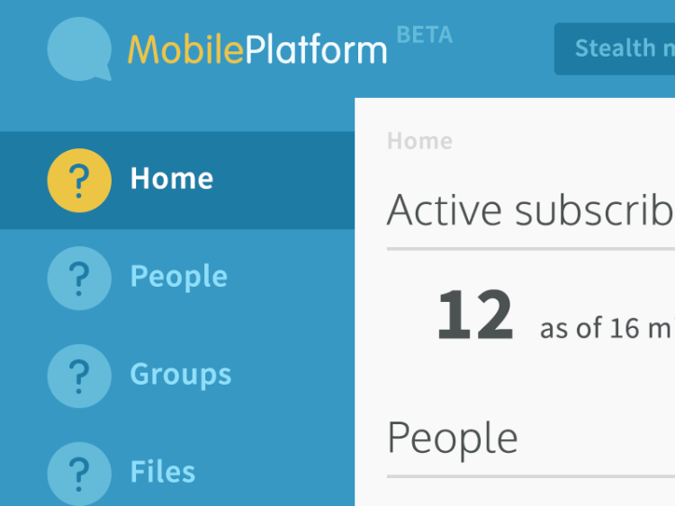 Screenshot of Mobile Platform UI design.