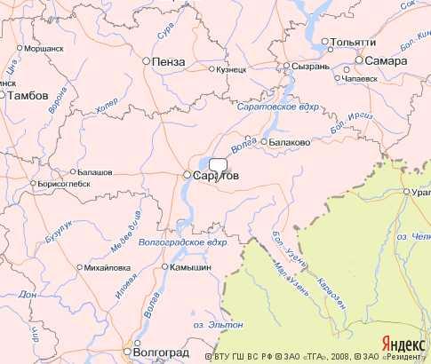 Саратовская область карта Приволжский федеральный округ