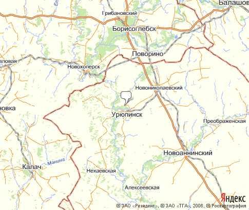 Урюпинский район карта Волгоградская область Южный