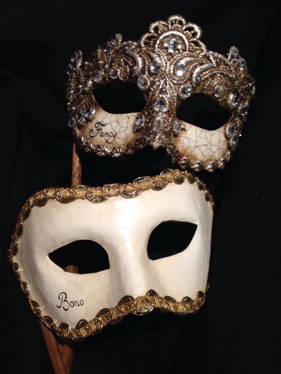 Man and woman mask for wedding | Kartaruga