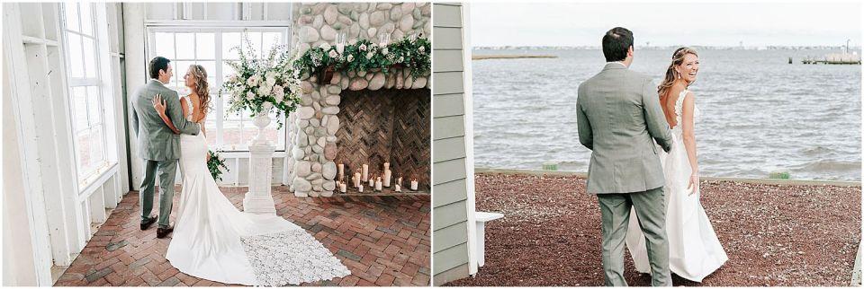 Capturing some beautiful portraits at this Mallard Island Yacht Club Wedding