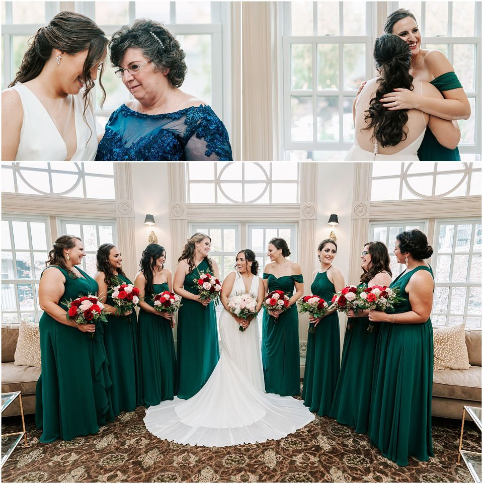 Some beautiful moments of the bride with family at this Olde Mill Inn Wedding