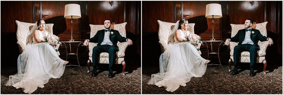 Some fun with the couple during their Olde Mill Inn Wedding