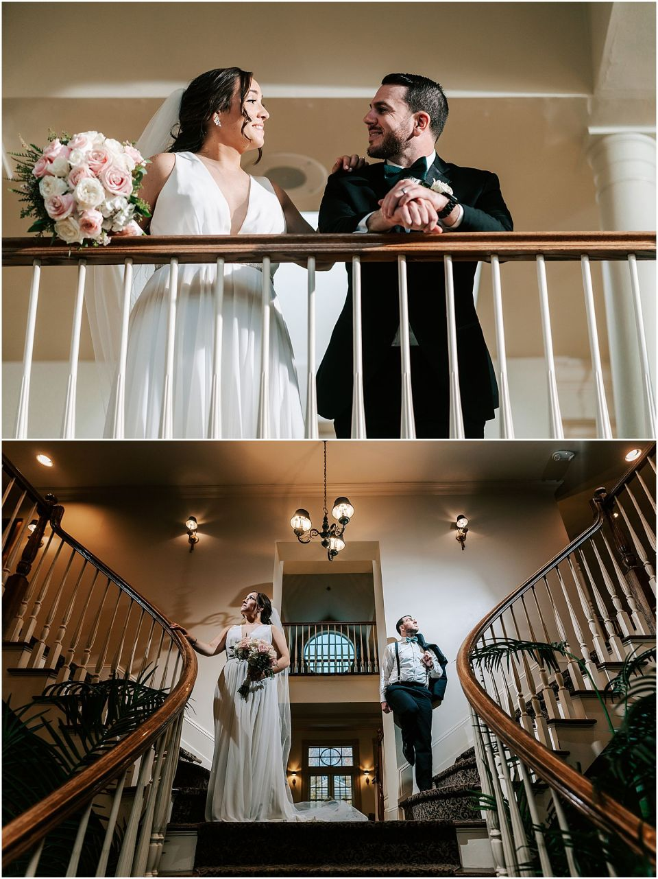 intimate portraits of the bride and groom at their Olde Mill Inn Wedding