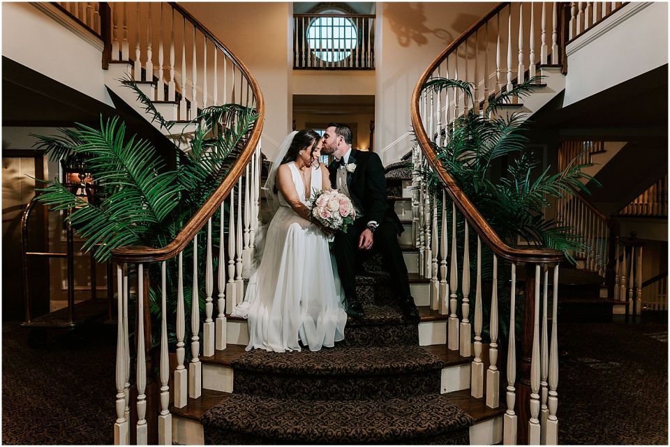 beautiful moments of the bride and groom at this Olde Mill Inn Wedding