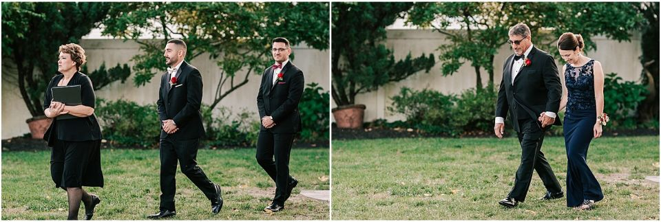 Moments during the Precessional at this Valenzano Winery Wedding