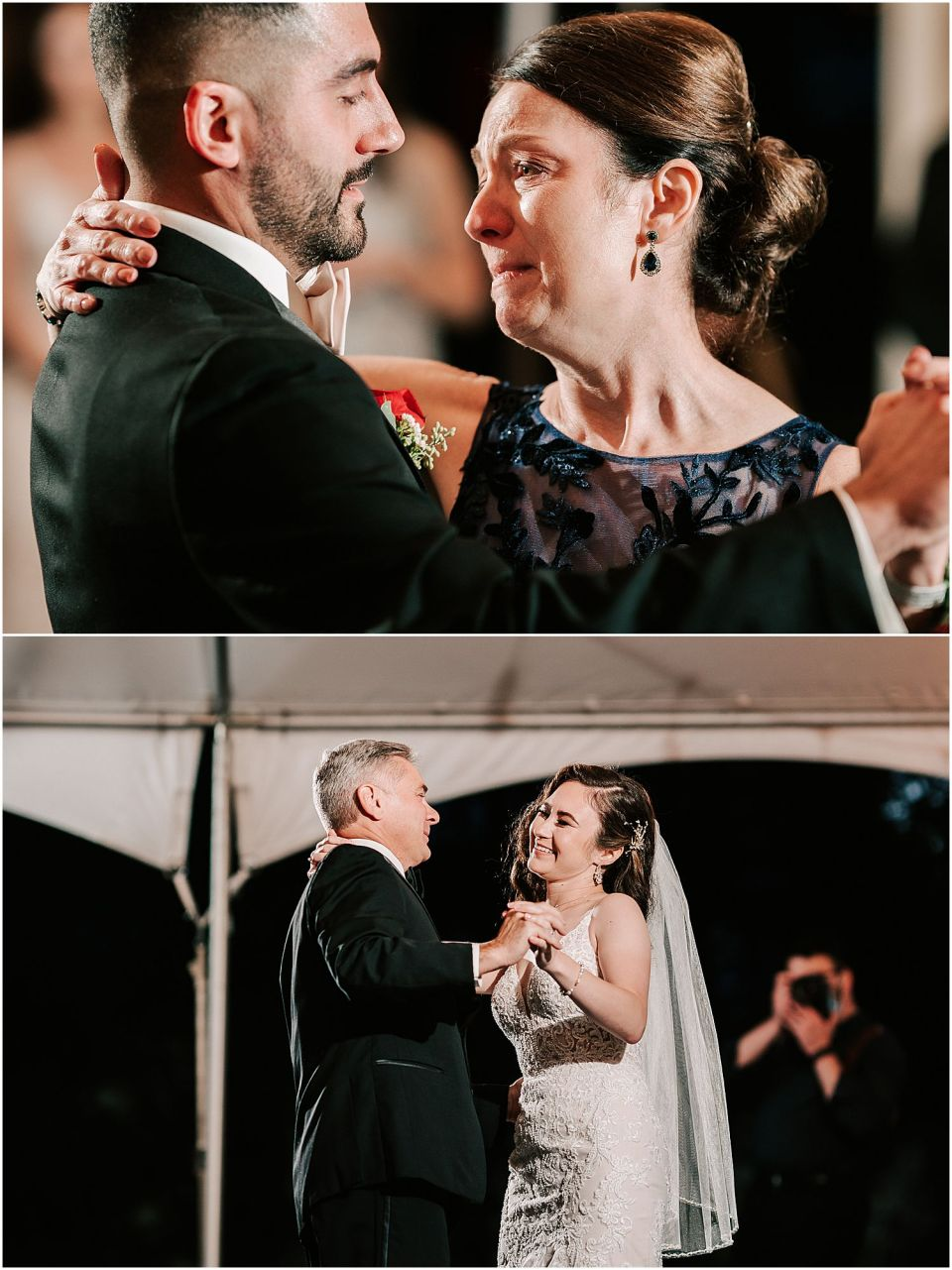 Emotional parent dances at this Valenzano Winery Wedding