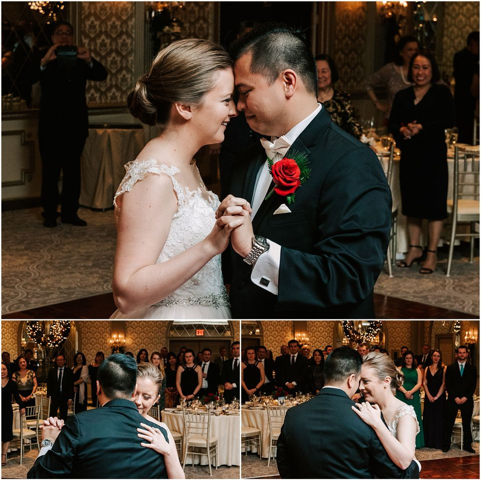 First dance at the Madison Hotel wedding venue