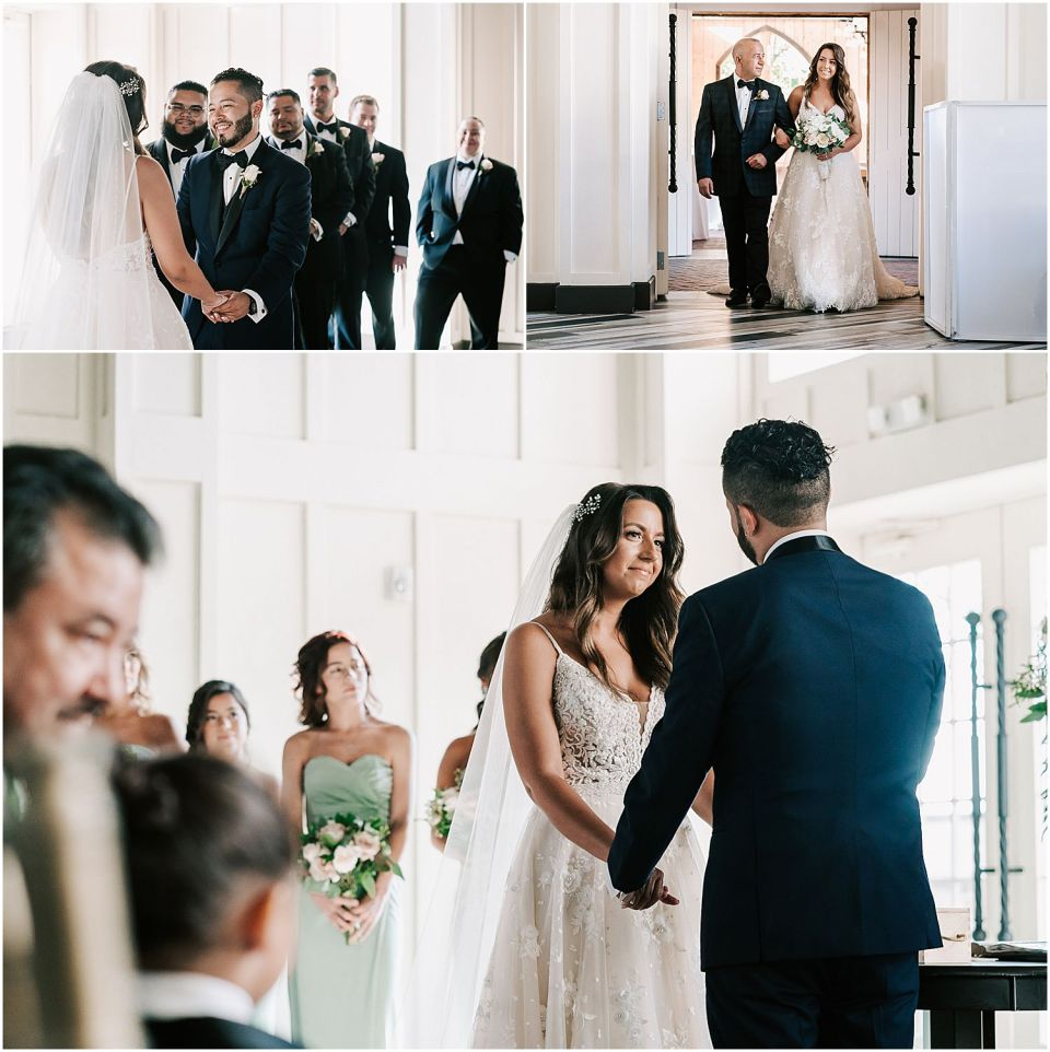 Ceremony images at this beautiful wedding