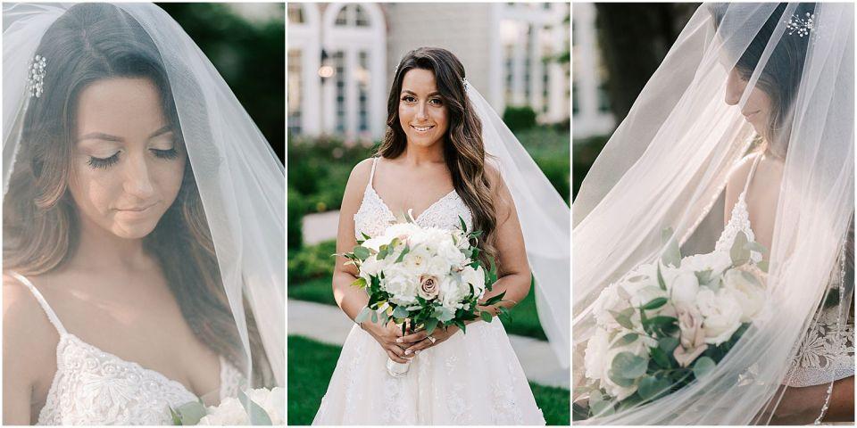 Bridal Portraits at The Ryland Inn Wedding Venue
