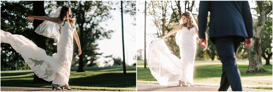 Some fun couples portraits at this Woodcrest Country Club wedding