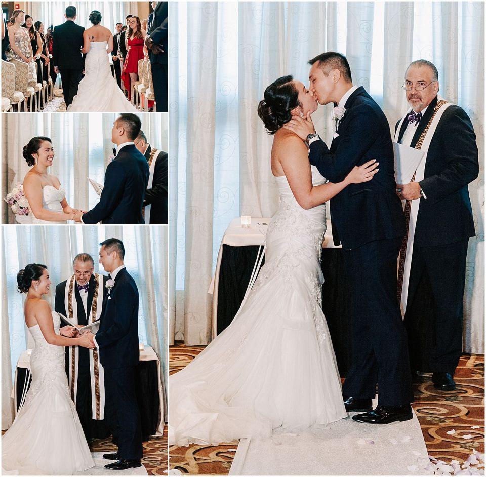 Wedding ceremony captured at this Il Villagio wedding venue