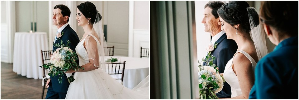 Bride walks down the aisle at The Grove at Centerton wedding venue
