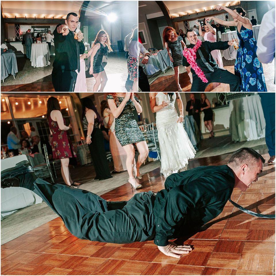 Party dancing at The Boathouse at Mercer Lake Wedding