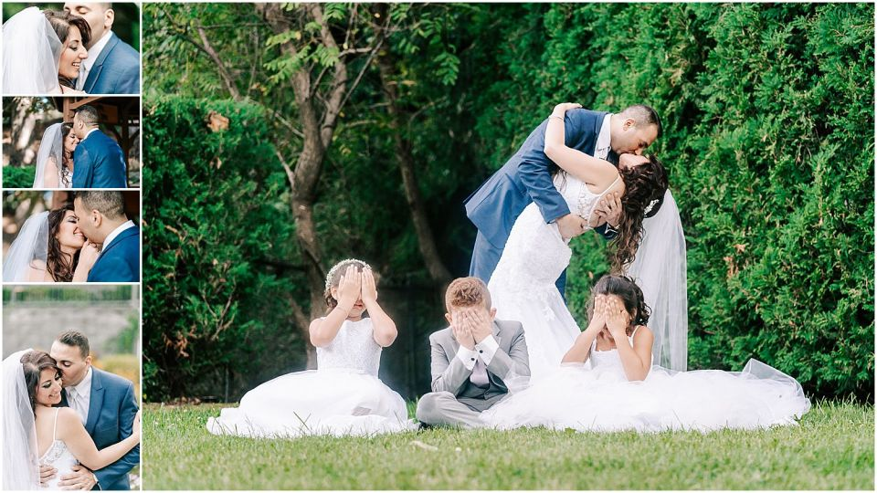 some fun shots of the bride and groom at the Valley Regency Wedding