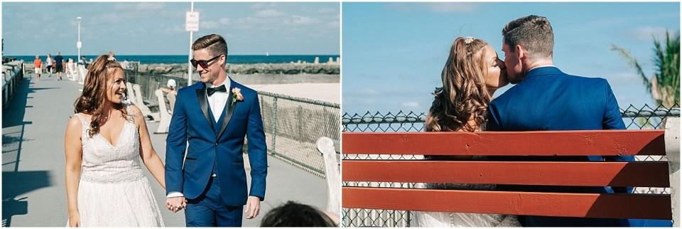 Couples portraits outside the Sunset Ballroom Wedding venue