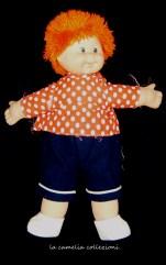 bambolotto con capelli arancio -anni 80- la camelia collezioni