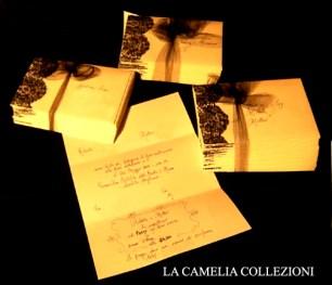 partecipazioni nozze con pizzo nero - la camelia collezioni
