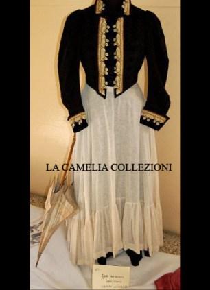 completo da passeggio fine 1800 - moda femminile 1800 - la camelia collezioni