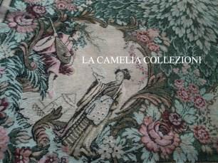 Gobelin anno 1920 con scene giapponesi - particolare 1- la camelia collezioni