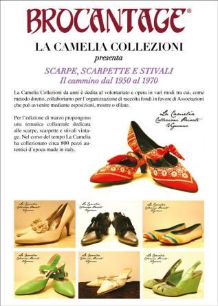 brocantage mostra scarpe del passato - la camelia collezioni