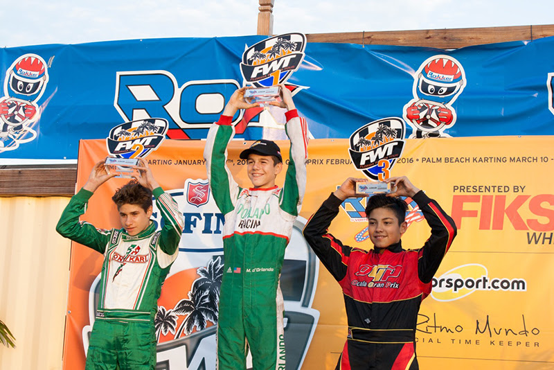 One of the teams that reached the top step of the podium this weekend was Koene USA, with driver Michael D'Orlando taking the win in the Junior ROK final.