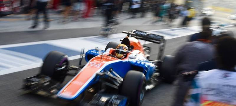 Pascal Wehrlein leaving the pits