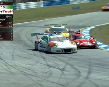 12 hours of sebring Wheelen passing lower calss cars